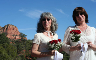 sedona wedding, LGBTQ wedding, signing tree