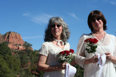 sedona wedding, LGBTQ wedding, signing tree