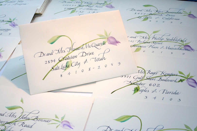 Envelope Calligraphy | Sally Sanders Calligraphy & Design