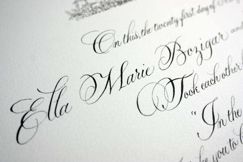 Quaker Wedding Certificates | Sally Sanders Calligraphy ...