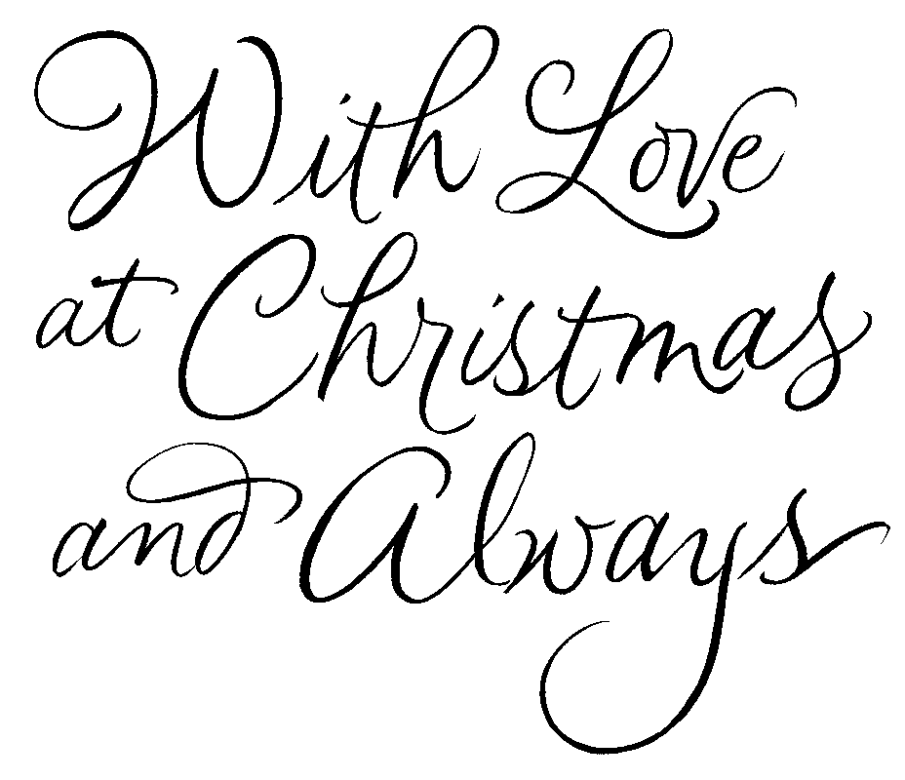 With love at Christmas - in calligraphy