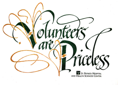 Volunteers are Priceless logo