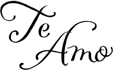 Te Amo - in calligraphy