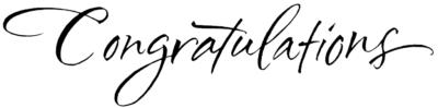 Congratulations in calligraphy