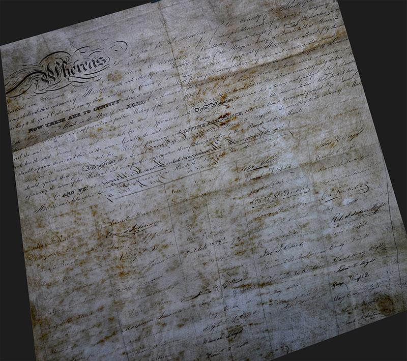 1841 Quaker document-sm
